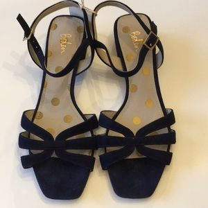 Boden Nerissa smart heeled sandal - navy